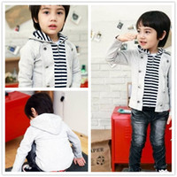 Wholesale 2013 autumn winter new Baby Kids Clothing Children s boys stripe hooded fleece sweater SS