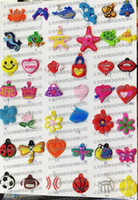 Pendant   83 Styles Rainbow Loom Bracelet Gum Charms Accessories Adorable Cartoon DIY Rainbow Loom Refill Bands Bracelet Kids Pendant 500pcs Lot D1301