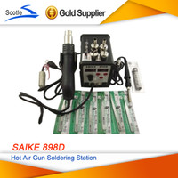 700w Other 100 ° C - 450 ° C Free shipping 220V Saike 898D Hot Air Gun Soldering Desoldering Station Combo with 15 Free Gifts