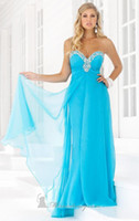 alexia prom dresses - 2014 New Arrivals Fashion Prom Dress Sweetheart A Line Floor Length Pleat Beads Chiffon Long Gown by Blush by Alexia