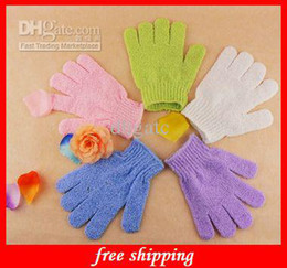 Wholesale Cloth Bath Mitt Exfoliating Gloves Cloth Scrubber Face Body Moisturizing Spa Accessories Skin Care