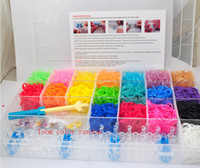 Wholesale Luxury Family Rainbow Loom Kit Children Creative Toys Gifts Tie Dye Rubber Bands Colorful Rubber String Bracelet Pendant D1304