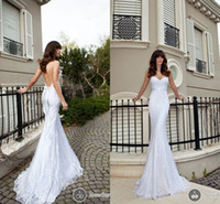 Wholesale Elegant Bling Newest Sheer Spaghetti Cheap Beach Spring Wedding Dresses With Lace Tulle Vestidos Bridal Dress Backless Ball Gowns Sexy