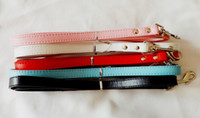 Wholesale Fashion Pet leashes lead PU Leather Dog Supplies colors