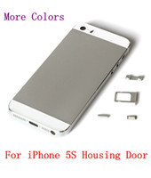 For Apple iPhone backing plate door - For iPhone S Back Housing Replacement Cover Metal Middle Frame Plate Bezel Battery Door Parts