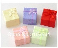 Wholesale cm Mixed Colors Paper Ring Box Gift Display Boxes Jewelry Packaging Earrings Box Case