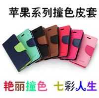 For Apple iPhone Leather For Christmas Wallet Cases Card Slot Korea Style Mercury Leather Cases for iPhone 4 4s 5 5s 5c Samsung Galaxy s3 s4 Mercury leather cases Cell Phone Cases