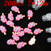 Wholesale 3D Ice Lolly resin flatback nail art decoration bag