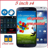 Wholesale New arrival original I9500 i9505 Quad Core S4 phone MTK6589 Ghz Android RAM cell phones