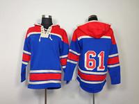 Wholesale Rick Nash Hockey Jackets Rangers Teams Winter Ice Hockey Hoodies Mens Blue Outdoor Apparel High Quality Hockey Wears