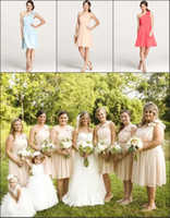 Maid of Honor Dress 2014 Vintage Plus Size Cheap Pink Orange...
