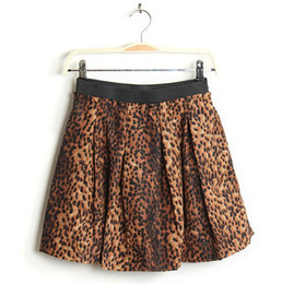 Wholesale Leopard Printed Pleated Skirts With Pockets dress W3326