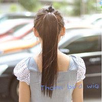Wholesale Generous New Arrival Colors One Piece Long Straight Fashion Hair Ponytail