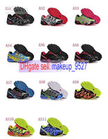 Wholesale 2014 NEW Salomon men running shoes outdoor shoes ultralight sport air mesh upper casual france walking shoes Size