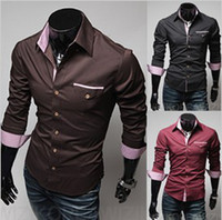 Men Cotton Polo New winter ebay selling grid shirt pocket