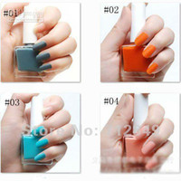 Pinks Nail Polish Gradient Wholesale - Free shipping 6PCS LOT 12ml Barbaric Girl New fashion quick-drying Matte frosted Nail polish 30 colo