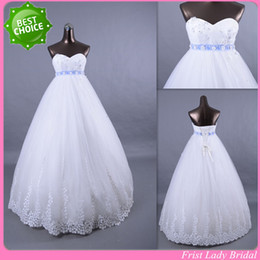 Wholesale Latest Design Empire Sweetheart Neckline Maternity Wedding Dresses Floor Length Lace Up Bridal Gowns