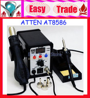 750W 100 to 500 220V 220V ATTEN AT8586 2in1 Hot Air SMD Rework Soldering Station Desoldering Station ATTEN 8586