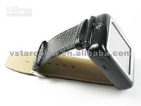 Wholesale fashion freeshipping AK09 Cheapest Tri Band Thin Sports Wrist camera Watch Cell Phone