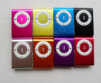 Wholesale Mini Clip Mp3 player with earphones usb cables retail box support Micro SD TF card GB Sport Mp3 Metal mp3 with retail package