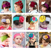 Headbands kids fabric cotton - Princess Brand New Infant Toddler Baby Child Kids Girls Fabric Flowers Dance Party Birthday Christmas Cotton Hair Headwears D013072
