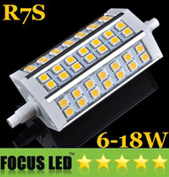 6W 9W 12W 15W 18W LED IP20 Ultra Bright R7S Dimmable Led 6W 9W 12W 15W 18W Lights 78mm 118mm 189mm SMD 5050 Warm Cool White Replace Floodlight Halogen Lamp 110-240V