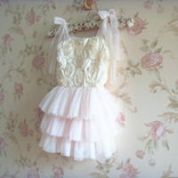 baby girl kids rose tutu dress floral tutu dress rose flower...