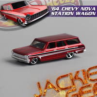 Wholesale Counter genuine boxed cm cool Hot Wheels Chevrolet NOVA STATION alloy car coffee