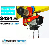 Wholesale V HZ kg x m complete type Electric Wire rope hoist with trolley