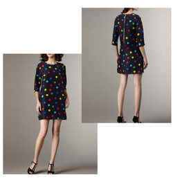 Wholesale jumpsuits new European and American women s yb trade section Polka Dot Neck Sleeve Chiffon Dress