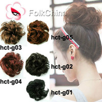 Wholesale Pony Tail Hair Extension Hair Bulks Bun Hairpiece Scrunchie HCT G