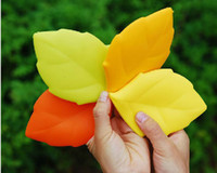 Wholesale 200pcs Outdoor Hiking Camping Silicone Gel Maple Leaf Shaped Drinking Cup