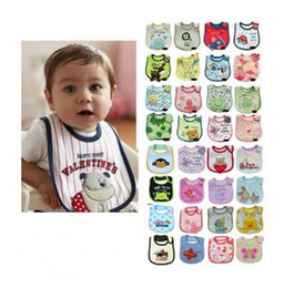 2017 Cotton Baby bib Infant saliva towels Bibs Burp Cloths Baby Waterproof bib styles Random delivery Baby Feeding wear retail