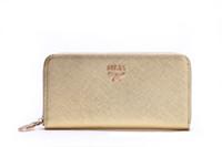 Wholesale 2014 Women clutch zipper leather purse women MCM Genuine leather wallet purses and handbags designer carteira