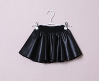 Wholesale New Baby Girls Fashion Skirt Children PU leather Black Tutu Skirt Kids Autumn Winter Zipper Dress Children Clothes