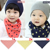 Wholesale Baby Layer Cotton Bibs Toddler Reversible Bandit Bandana Dribble Baby Star Triangled Bibs Color