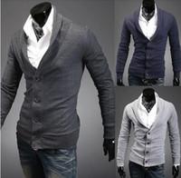 Wholesale Hot Sale New Men s Sweaters lapel Sweaters Men clothing Men thicker sweater