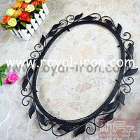 Wholesale Professing making wrought iron mirror forged iron casting metal mirror wall mirror