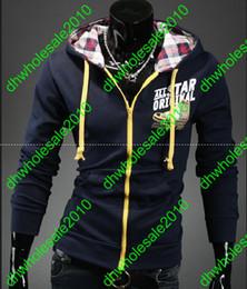 Wholesale NEW HOT Men s Slim Personalized hat Design Hoodies amp Sweatshirts Jacket Sweater Coat WEIYI084