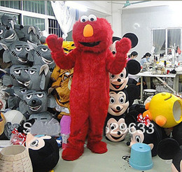 Wholesale BRAND NEW Elmo Mascot Costume Adult Size Sesame Street Fancy Dress Suit