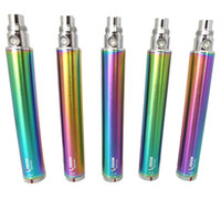 Wholesale Vision Spinner Rainbow Battery eGo C Twist mAh mAh mAh mAh variable voltage ego twist battery Electronic cigarette DHL free