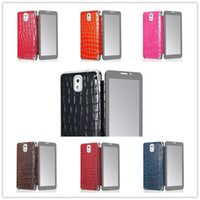 Wholesale Luxury Phone Case with Pen Touch Screen Front Cover Alligator Crocodile Grain Leather Wallet For Samsung Galaxy Note Note3 N9000