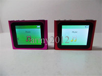 Wholesale 6th Slim touch screen quot LCD Clip MP3 MP4 Player FM Radio Video Recorder support SD TF card By DHL