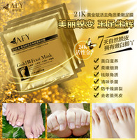 Wholesale AFY Gold Foot Mask k Revitalizing Exfoliating Softening Feet Mask Remove Cuticle Callu Dead Cells Prevent Cracked Feet Ratse White Feet