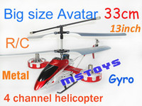 Electric 2 Channel 1:4 Big size Avatar 4 ch rc metal helicopter gyro model four channel radio remote control r c heli helicoptor plane wholesale