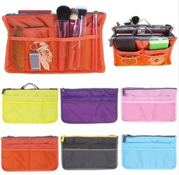 Wholesale Lady s Cosmetic Storage Pouch Purse Large Liner Tidy Travel multi functional cosmetic bag in Bag organizer A handbag Colors