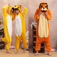 Anime Costumes Unisex Animal Wholesale - New Kigurumi Pajamas Anime Lion Cosplay Costume unisex Adult Onesie Hot Dress