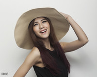 Wholesale Lady Wide Brim Hats Beige Women Beach Cap Trendy Sun Peaked Hat DDH5