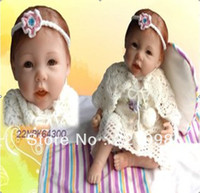 "Unisex Birth-12 months Vinyl Free shipping 55cm 22"" high Ultra simulation baby dolls reborn baby girl doll same quality as adora baby doll"