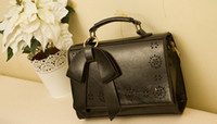 decorative bags - NEW Fashion PU Butterfly Bow Decorative Hollow Women Handbags double sided Laptop Briefcase bag